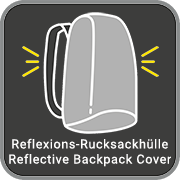 Reflexions Rucksack Hülle / Reflective Backpack Cover
